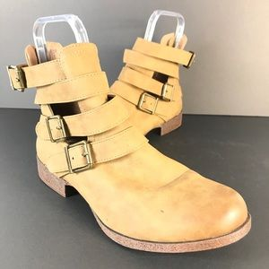JustFab straps ankle boots